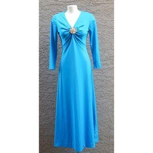 Vintage Monacco Blue Logans Run Maxi Dress